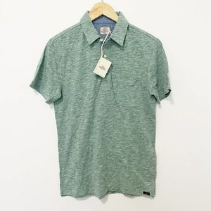 NEW Faherty Men's Green Polo Shirt Size Small